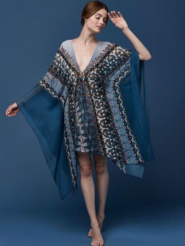 Meng-SS15-beach-wear-coral-print-silk-georgette-string-kaftan