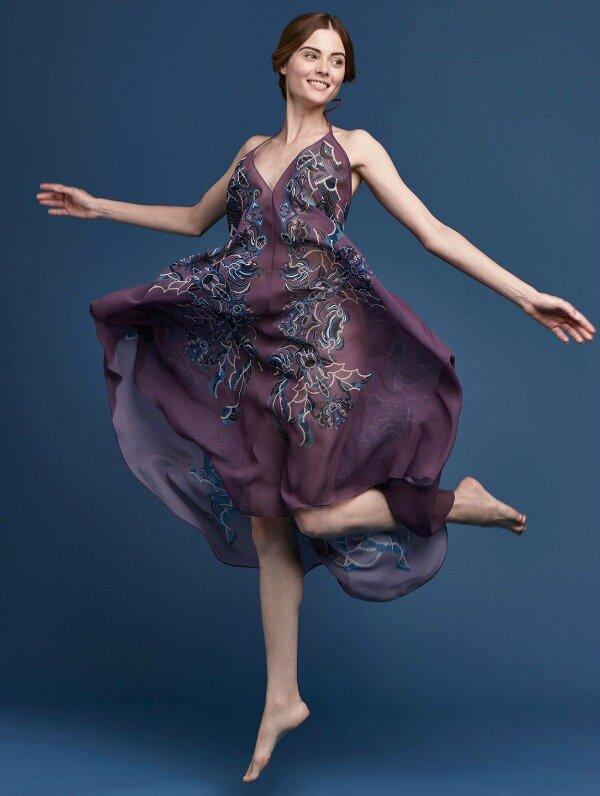 Meng-SS15-beach-wear-zodiac-print-silk-georgette-scarf-dress-purple