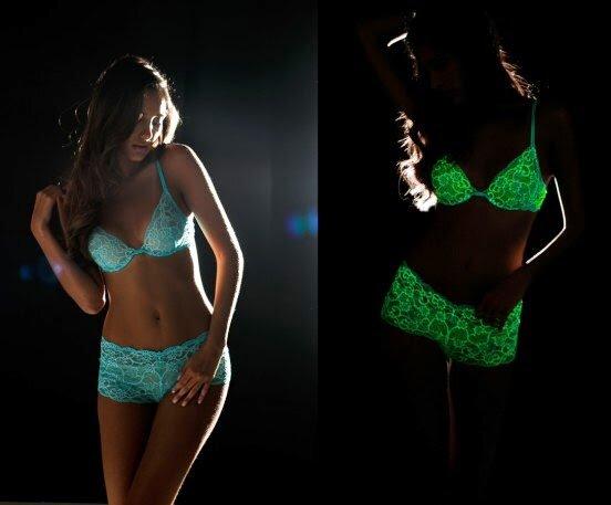 lingerie que brilha no escuro