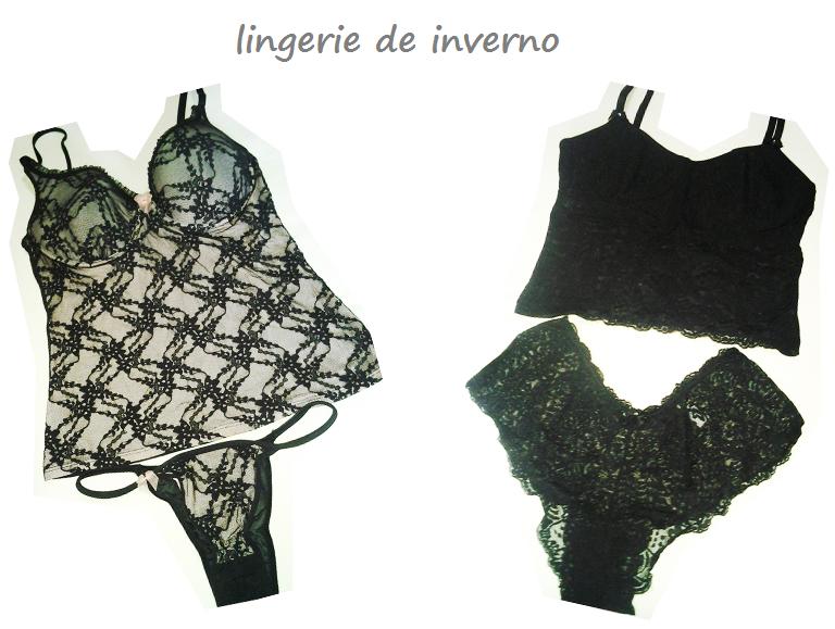 lingerie preta