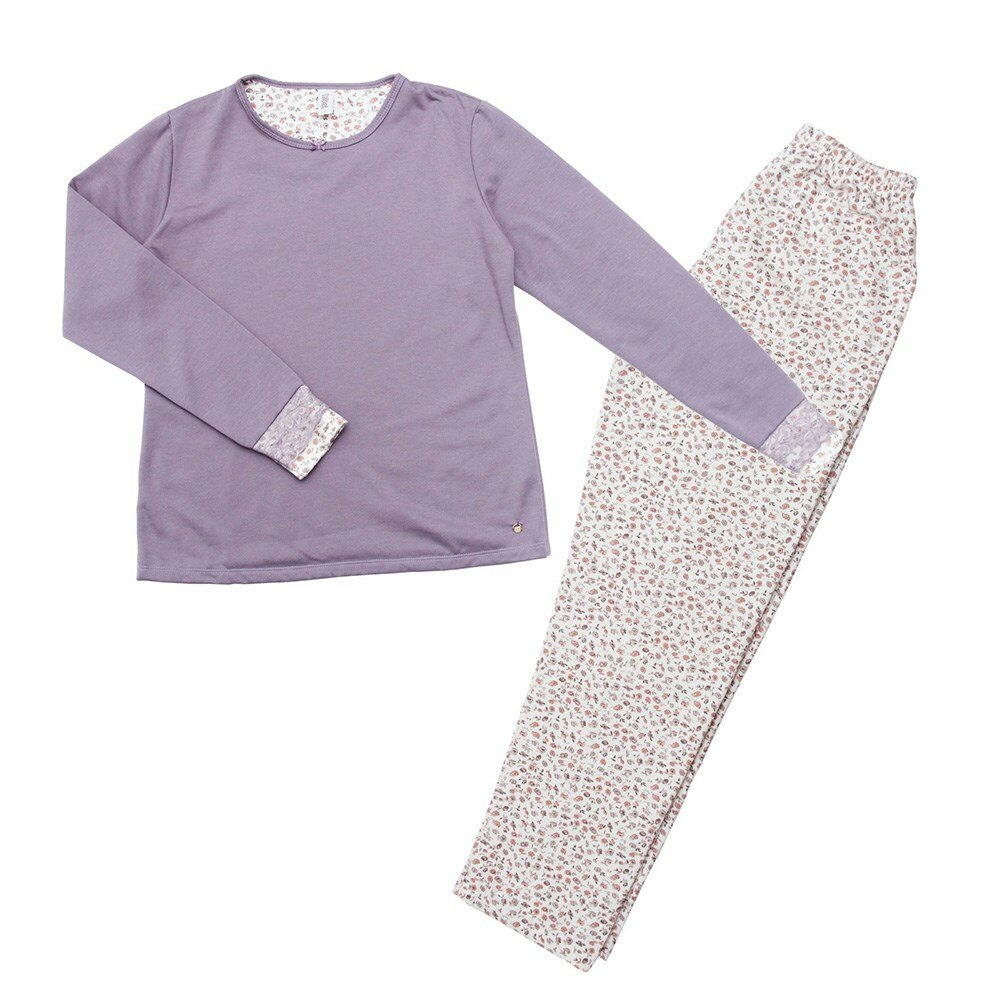 pijama-manga-longa-floral-flanelado-laibel-lilas-frente