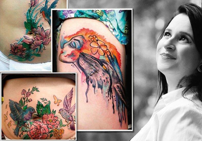 Tatuagens que escondem a violência contra a mulher